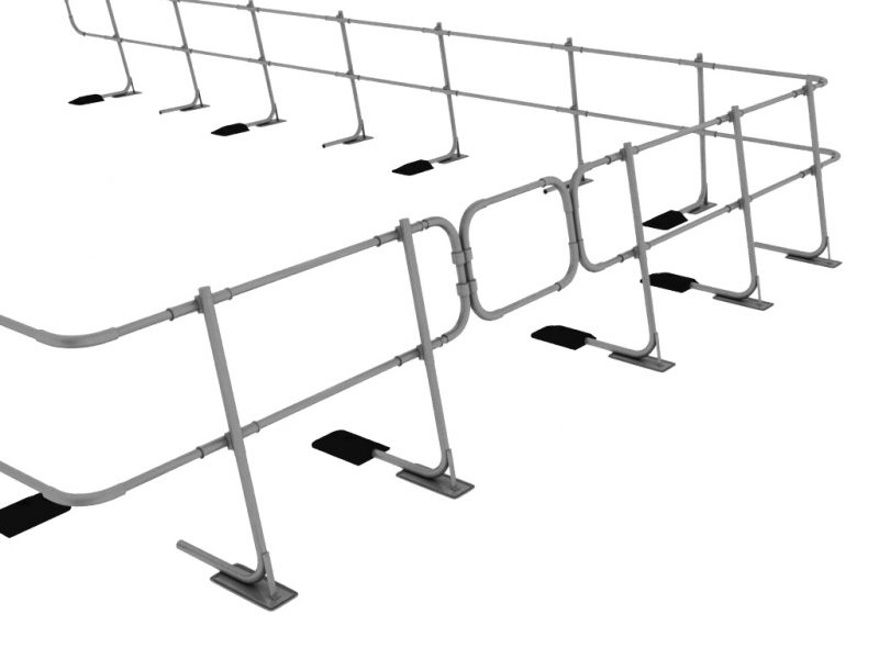 Freestanding Guardrail 3a (j)