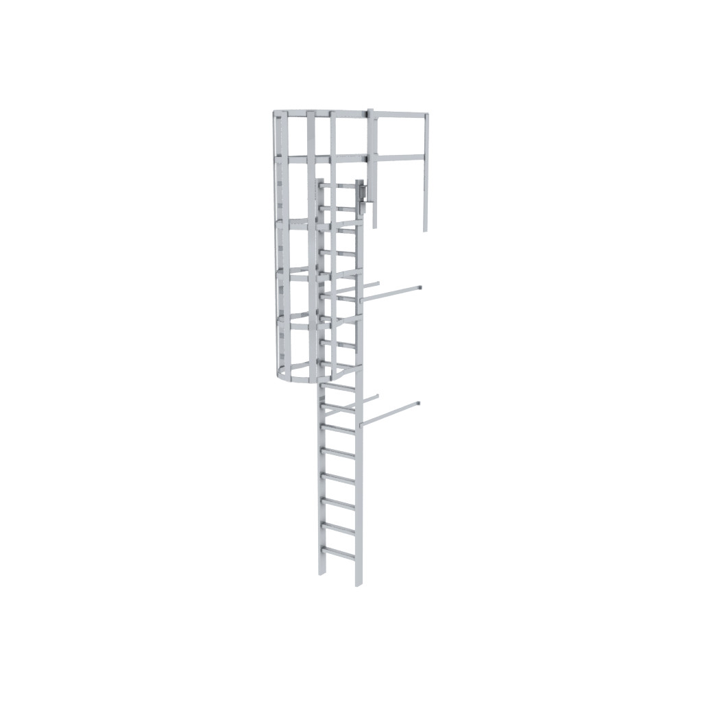 caged access ladders