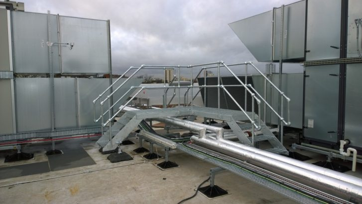 Galvanised Free Standing Step Unit and Platform